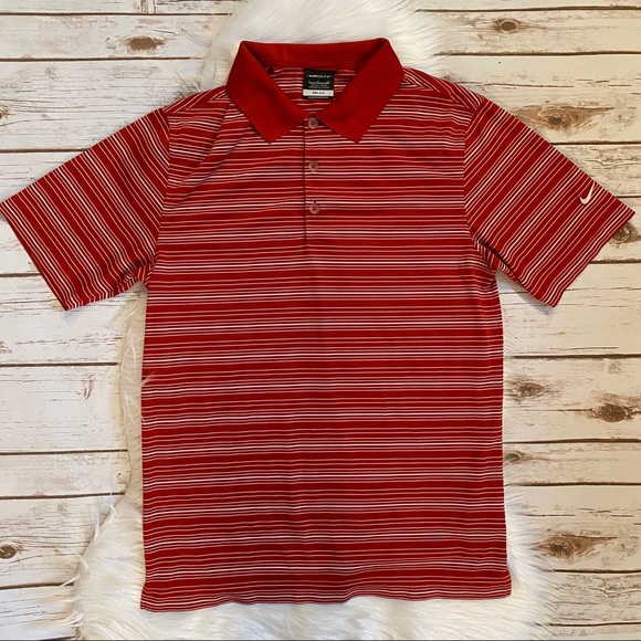 Nike Other - NIKE GOLF STRIPED POLO DRI FIT SHIRT SMALL